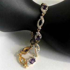 (PAJ BB) Gold & Silver-Tone Tennis Bracelet